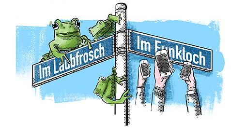 Frosch und Funkloch